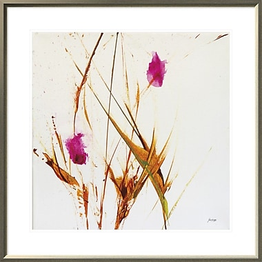 East Urban Home 'Pink Buds II' Framed Print; 24'' H x 24'' W
