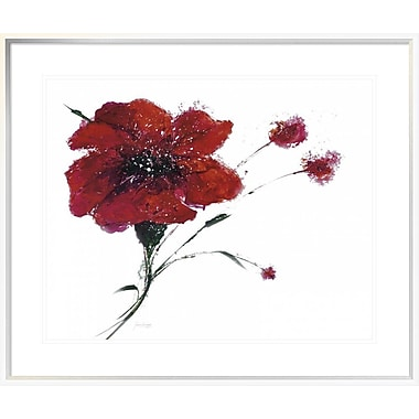 East Urban Home 'Blooming Red' Framed Print; 22'' H x 28'' W