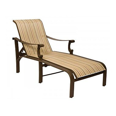 Woodard Bungalow Sling Adjustable Chaise Lounge; Augustine Nutmeg