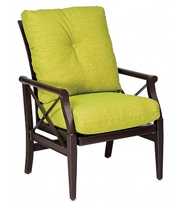 Woodard Andover Rocking Patio Dining Chair w/ Cushion; Canvas Iris
