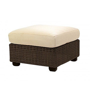 Woodard Montecito Ottoman w/ Cushion; Brisa Distressed Dove Gray WYF078282192614