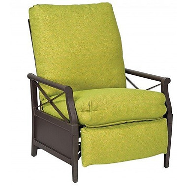 Woodard Andover Patio Chair w/ Cushions; Brisa Distressed Dove Gray