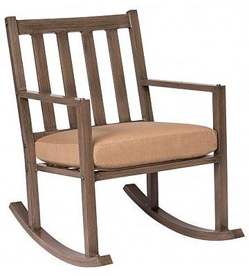 Woodard Woodlands Small Rocking Chair w/ Cushions; Canvas Iris