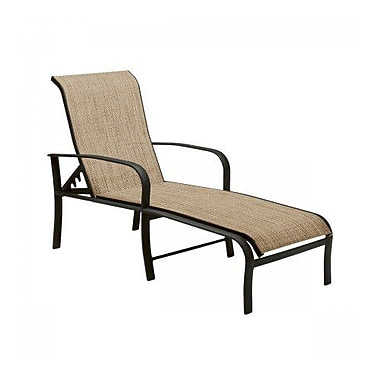 Woodard Fremont Sling Adjustable Chaise Lounge; Chocolate Flex Sling