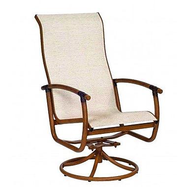Woodard Glade Isle Sling High Back Rocker Swivel Patio Dining Chair; Augustine Frost