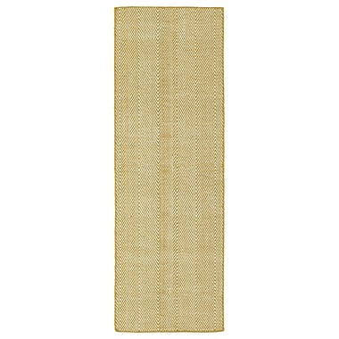 Ivy Bronx Buell Hand Woven Gold Indoor/Outdoor Area Rug; Runner 2' x 6'