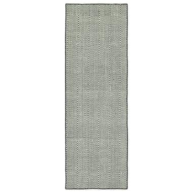 Ivy Bronx Buell Hand Woven Grey Indoor/Outdoor Area Rug; Runner 2' x 6'