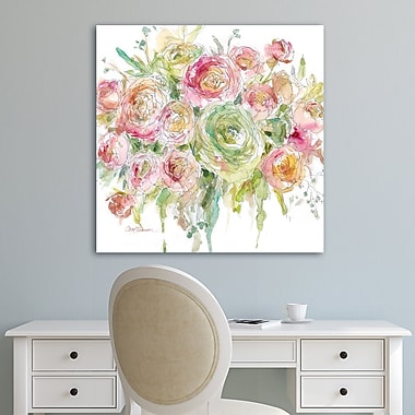 Latitude Run 'Graceful Bouquet' Acrylic Painting Print on Gallery Wrapped Canvas; 35'' H x 35'' W