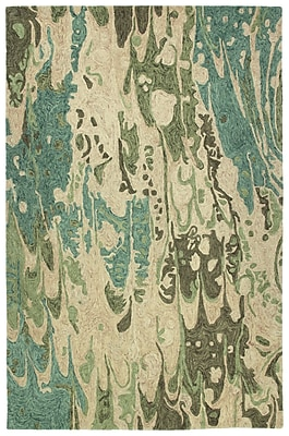 Mercer41 Katarina Hand Tufted Wool Sea Foam/Beige Area Rug; 9'6'' x 13'