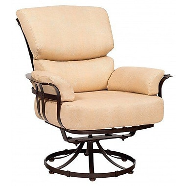 Woodard Atlas Swivel Patio Chair w/ Cushions; Bazaar Caf