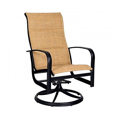 Woodard Fremont Padded Sling High-Back Swivel Rocking Chair; Augustine Nutmeg