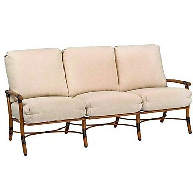 Woodard Glade Isle Sofa w/ Cushions; Canvas Parrot