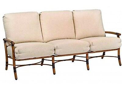 Woodard Glade Isle Sofa w/ Cushions; Canvas Iris