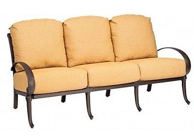 Woodard Holland Sofa w/ Cushions; Canvas Chestnut