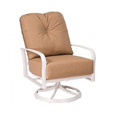 Woodard Fremont Swivel Rocking Patio Chair w/ Cushions; Paris Honeydew