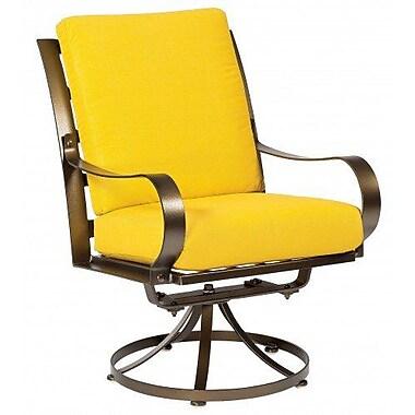Woodard Cascade Swivel Patio Dining Chair w/ Cushion; Canvas Dusk