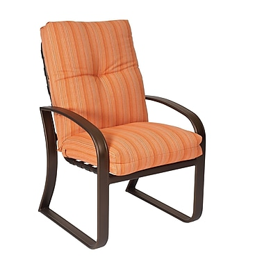 Woodard Cayman Isle Patio Dining Chair w/ Cushion; Canvas Parrot