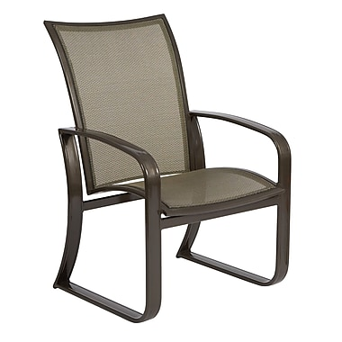 Woodard Cayman Isle Flex Patio Dining Chair; Augustine Alloy