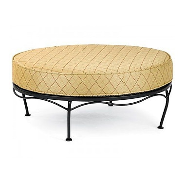 Woodard Fullerton Universal Oval Ottoman w/ Cushion; Fairmount