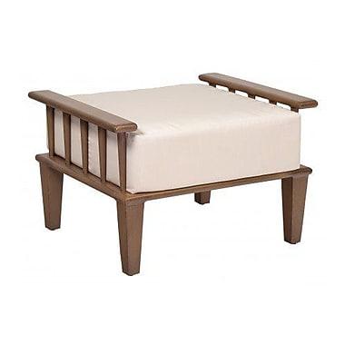 Woodard Van Dyke Ottoman w/ Cushion; Paris Honeydew