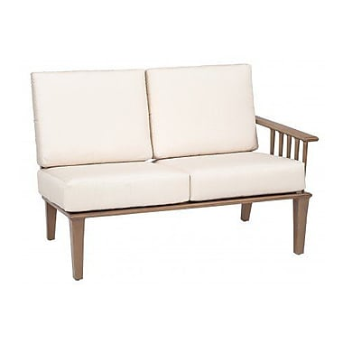 Woodard Van Dyke Right Arm Facing Loveseat Sectional Piece w/ Cushions; Canvas Dusk