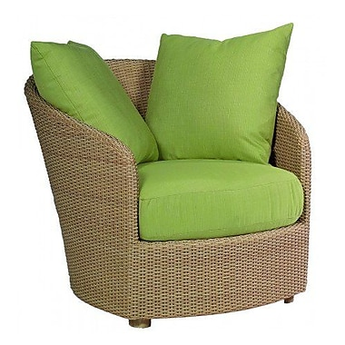 Woodard Oasis Patio Chair w/ Cushions; Brisa Distressed Charcoal