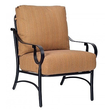 Woodard Ridgecrest Stationary Patio Chair w/ Cushions; Brisa Distressed Charcoal