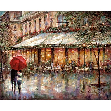 Winston Porter 'Les Deux Amants' Acrylic Painting Print on Gallery Wrapped Canvas; 30'' H x 40'' W
