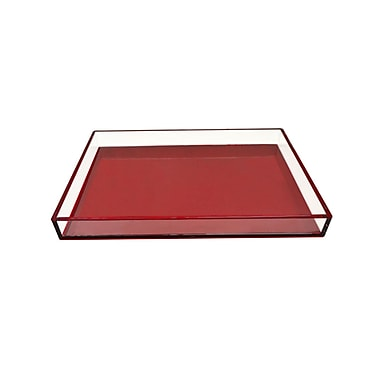 Everly Quinn Jolicia Serving Tray; Red
