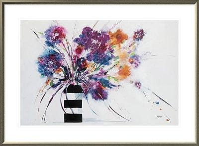East Urban Home 'Stripes' Framed Print; 20'' H x 30'' W