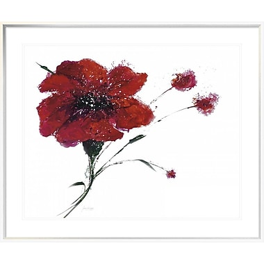East Urban Home 'Blooming Red' Framed Print; 28'' H x 35'' W