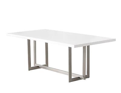 Orren Ellis Bryan Dining Table; Matte White