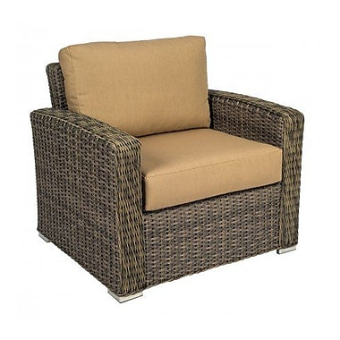 Woodard Bay Shore Patio Chair w/ Cushions; Canvas Navy
