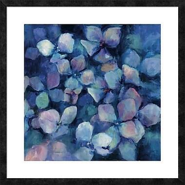 East Urban Home 'Midnight Blue Hydrangeas' Framed Print; 24'' H x 24'' W