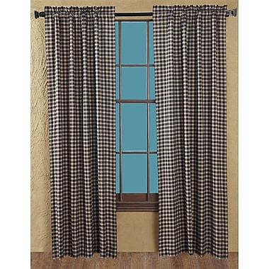Loon Peak Authier Check Curtain Panels (Set of 2)