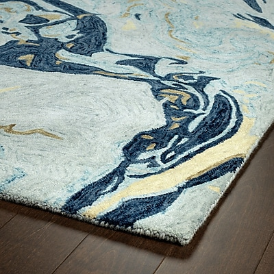 Mercer41 Katarina Hand Tufted Wool Blue Area Rug; 8' x 11'