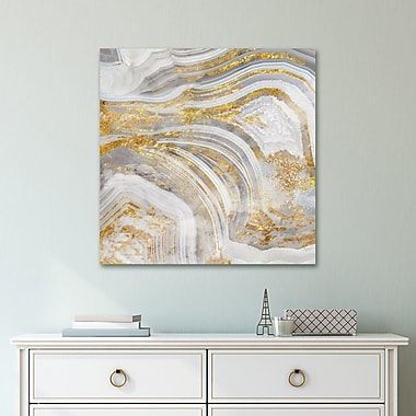 Mercer41 'Agate Allure I' Acrylic Painting Print on Gallery Wrapped Canvas; 24'' H x 24'' W