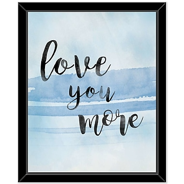 Bungalow Rose 'Love you More' Framed Textual Art on Glass