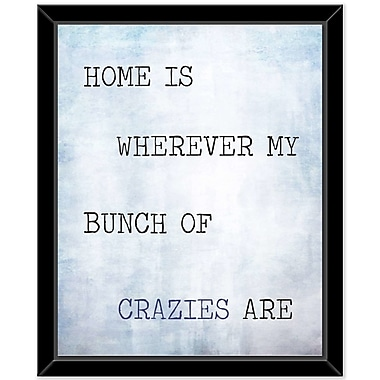 Williston Forge 'Home' Framed Textual Art on Canvas