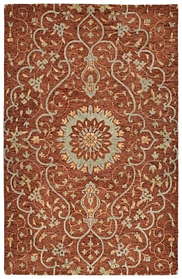 Bungalow Rose Toshiro Hand Tufted Wool Brick Area Rug; 2' x 3'