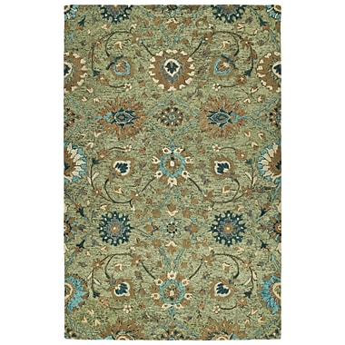 Bungalow Rose Toshiro Hand Tufted Wool Sage Area Rug; 10' x 14'