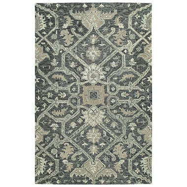 Bungalow Rose Toshiro Hand Tufted Wool Graphite Area Rug; 10' x 14'