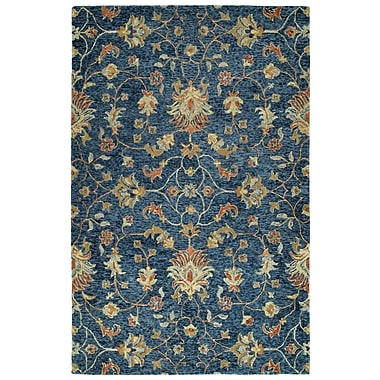 Bungalow Rose Toshiro Hand Tufted Wool Denim Area Rug; 4' x 6'
