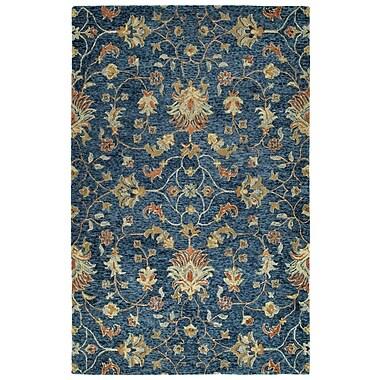 Bungalow Rose Toshiro Hand Tufted Wool Denim Area Rug; 10' x 14'