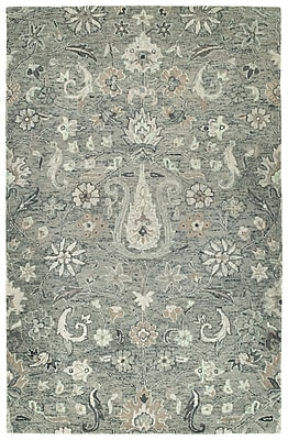 Bungalow Rose Toshiro Hand Tufted Wool Gray Area Rug; 9' x 12'