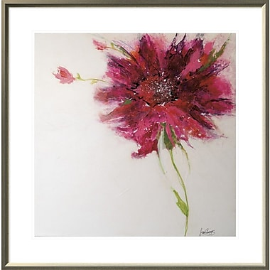 East Urban Home 'Pink Daisy' Framed Print; 24'' H x 24'' W