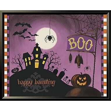 East Urban Home 'Happy Haunting Boo' Framed Graphic Art Print; 16'' H x 20'' W
