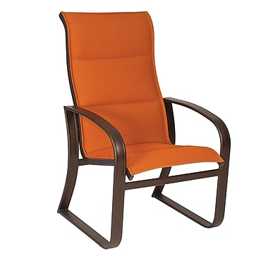 Woodard Cayman Isle Padded Sling High-Back Patio Dining Chair; Elegance