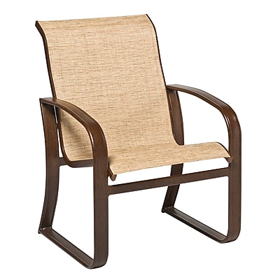 Woodard Cayman Isle Sling Patio Dining Chair; Pewter