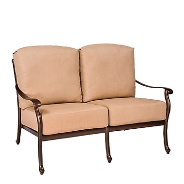 Woodard Casa Loveseat w/ Cushions; Summit Spark